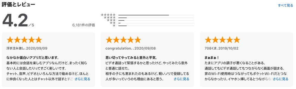 『おチャベリ』の口コミ・評価