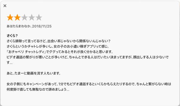 『おチャベリ』の口コミ・評価3