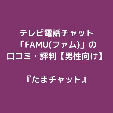 テレビ電話チャット「FAMU(ファム)」の口コミ・評判【男性向け】
