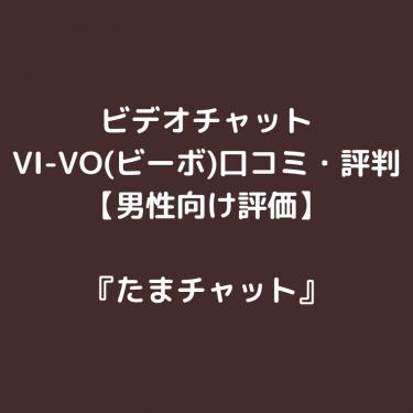 ビデオチャット「VI-VO(ビーボ)」の口コミ・評判【男性向け評価】