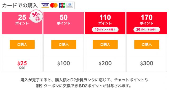 DXLIVEクレジットカード